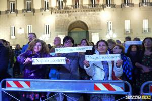 Napoli sta con Erri@Napoli, piazza Municipio