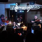 """Solis String Quartet – Luca Aquino – Gianluca Brugnano """"Vesevus""""@Hotel de la Ville, Avellino"""