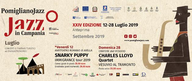 POMIGLIANO JAZZ: Charles Lloyd quartet in concerto sul Vesuvio
