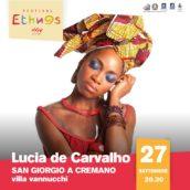 Lúcia de Carvalho in concerto alla XXIV edizione di Ethnos