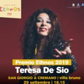 TERESA DE SIO chiude la XXIV edizione di Ethnos, festival internazionale di musica etnica