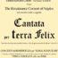 Cantata per Terra Felix, concerto corale diretto dal M.o Daniel Collins