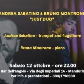 "Andrea Sabatino e Bruno Montrone ""Just Duo"" al Bar dell'Angolo"